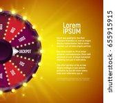 shining wheel of fortune.... | Shutterstock .eps vector #655915915