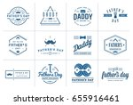 set of vector happy fathers day.... | Shutterstock .eps vector #655916461