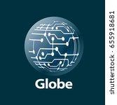 vector logo globe | Shutterstock .eps vector #655918681