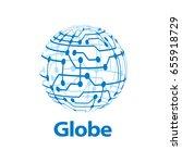 vector logo globe | Shutterstock .eps vector #655918729