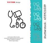 web line icon. tonometer. | Shutterstock .eps vector #655921039
