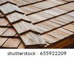 wood texture background. roof | Shutterstock . vector #655922209