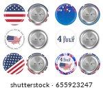 steel round brooch 4th of july... | Shutterstock .eps vector #655923247
