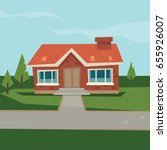 house icon background  flat ... | Shutterstock .eps vector #655926007