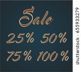 '25 50 75 100  sale' leather... | Shutterstock .eps vector #655933279
