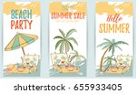 hand drawn set of holiday... | Shutterstock .eps vector #655933405