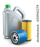 car oil filters and motor oil... | Shutterstock . vector #655942279
