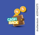 Vector Cash Back Icon With...