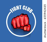 fight club vector logo with red ... | Shutterstock .eps vector #655942435