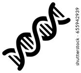black dna spiral toolbar icon.... | Shutterstock .eps vector #655942939
