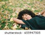 young black happy woman... | Shutterstock . vector #655947505