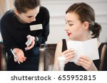 woman making an order from the... | Shutterstock . vector #655952815