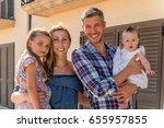 family in summertime holidays...   Shutterstock . vector #655957855