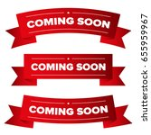 coming soon red ribbon | Shutterstock .eps vector #655959967