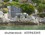 ancient antique flooded city of ... | Shutterstock . vector #655963345
