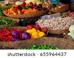 Vegetables On The Market In...