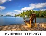 Single Muskoka Chair Sitting O...