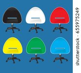 colorful chair vector on blue... | Shutterstock .eps vector #655975249