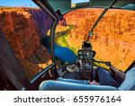 Helicopter Cockpit With Pilot...