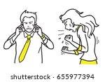 vector illustration character... | Shutterstock .eps vector #655977394
