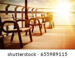 amazing beach landscape with... | Shutterstock . vector #655989115