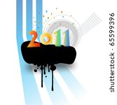 colorful new year 2011  copy... | Shutterstock .eps vector #65599396