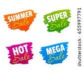 summer  super  hot and mega... | Shutterstock .eps vector #655997791
