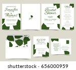 set of wedding invitation card. ... | Shutterstock .eps vector #656000959