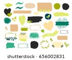 vector hand drawn ribbons ... | Shutterstock .eps vector #656002831