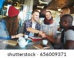 successful informal meeting in... | Shutterstock . vector #656009371