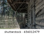 side wall of old wooden house | Shutterstock . vector #656012479