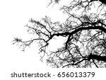 realistic tree silhouette ... | Shutterstock .eps vector #656013379