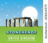 stonehenge icon isolated on... | Shutterstock .eps vector #656014375