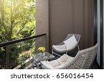 outdoor furniture wicker chair... | Shutterstock . vector #656016454