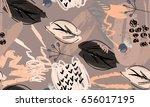 rough scribbles and doodles... | Shutterstock .eps vector #656017195