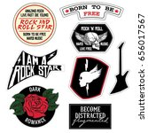 fashion rock music slogan patch ... | Shutterstock .eps vector #656017567