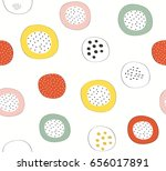 abstract cute colorful doodle...   Shutterstock .eps vector #656017891