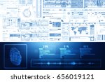 fingerprint scanning technology ... | Shutterstock . vector #656019121