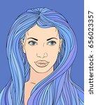 vector illustration of woman...   Shutterstock .eps vector #656023357