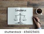 compliance concept   Shutterstock . vector #656025601