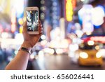 detail of woman taking a photo... | Shutterstock . vector #656026441