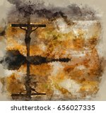 watercolour painting of... | Shutterstock . vector #656027335