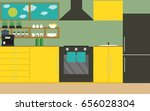 kitchen vector illustration. ... | Shutterstock .eps vector #656028304