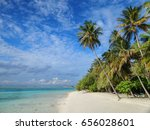 beautiful beach of the maldives ... | Shutterstock . vector #656028601