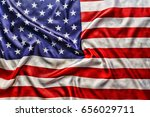 flag of the usa with sunflare | Shutterstock . vector #656029711