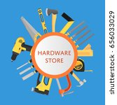 hardware store banner with... | Shutterstock .eps vector #656033029
