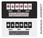 event presentation sale timer.... | Shutterstock .eps vector #656038477