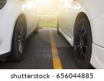 two car parking on the road... | Shutterstock . vector #656044885