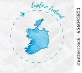 ireland watercolor map in... | Shutterstock .eps vector #656045851