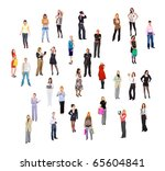 people concept isolated | Shutterstock . vector #65604841